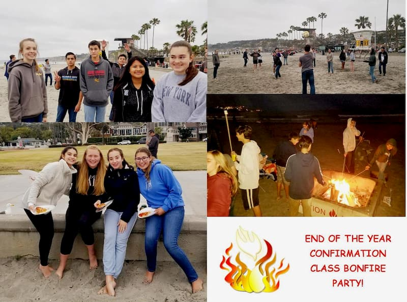 Confirmation End of the Year Bonfire Party!