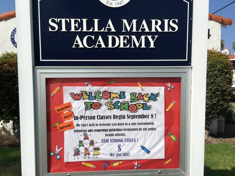 Re-Opening Waiver Approved for Stella Maris Academy. In-Person Classes Begin Sept. 8th