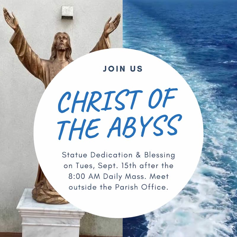 Christ of the Abyss Statue Dedication and Blessing