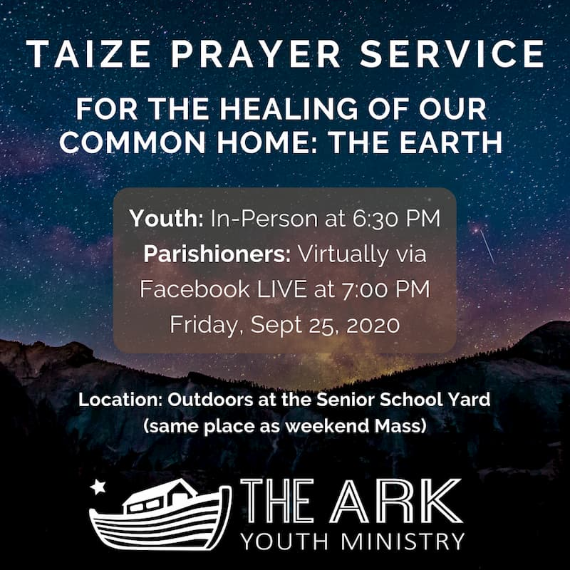 Youth Ministry Kicks Off with a Taize Prayer Service