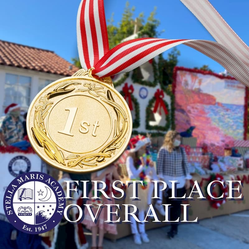 Stella Maris Academy Won First Place Overall in the Christmas Parade!