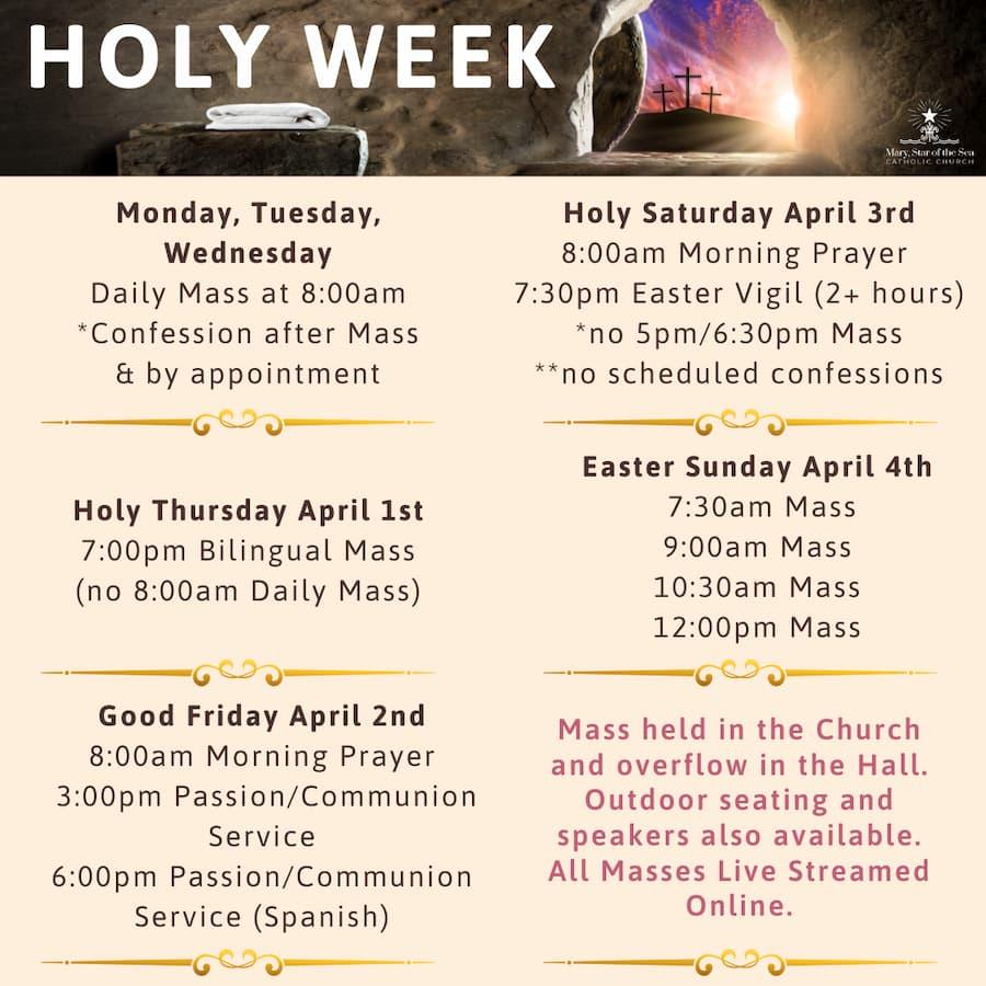 Holy Week Mass Schedule 2021