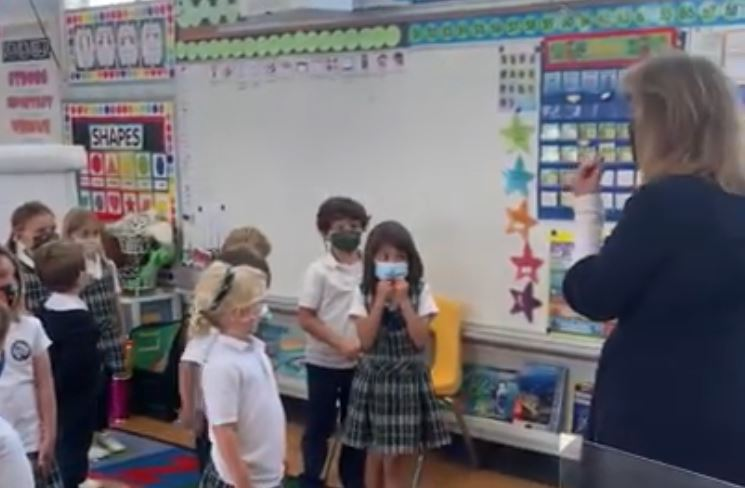 Stella Maris Students Learn the Lord's Prayer