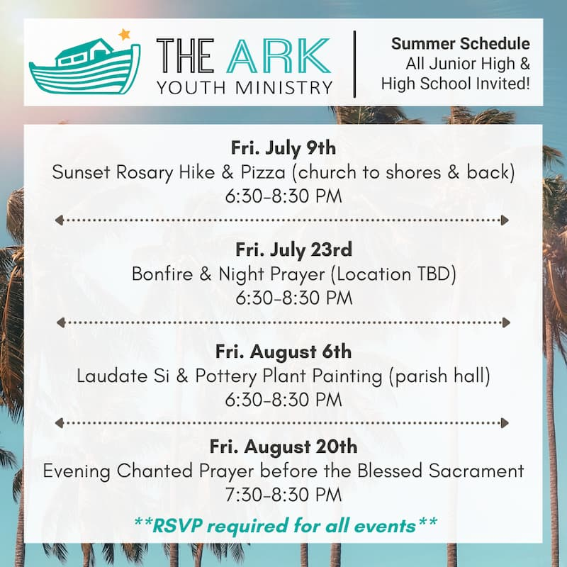 Youth Ministry Summer Events!